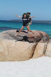 Rock leaping