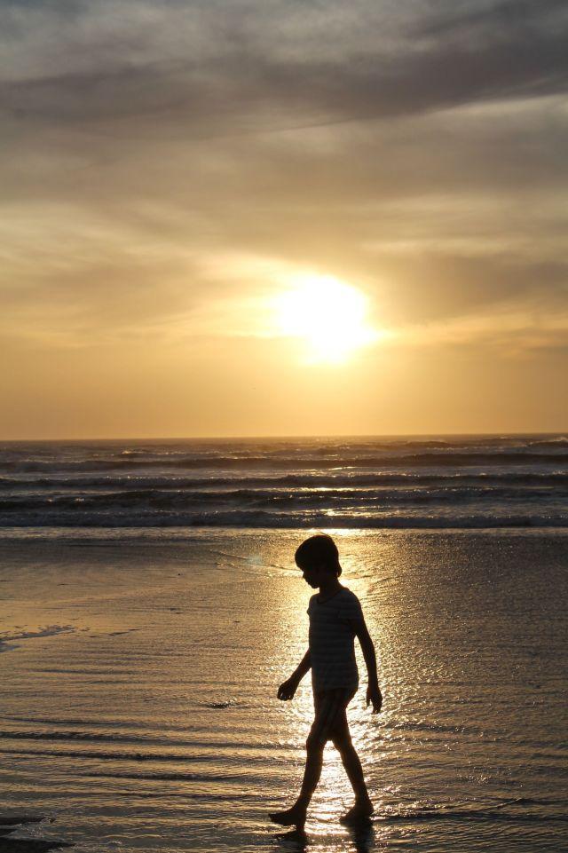 West coast sunset glow
