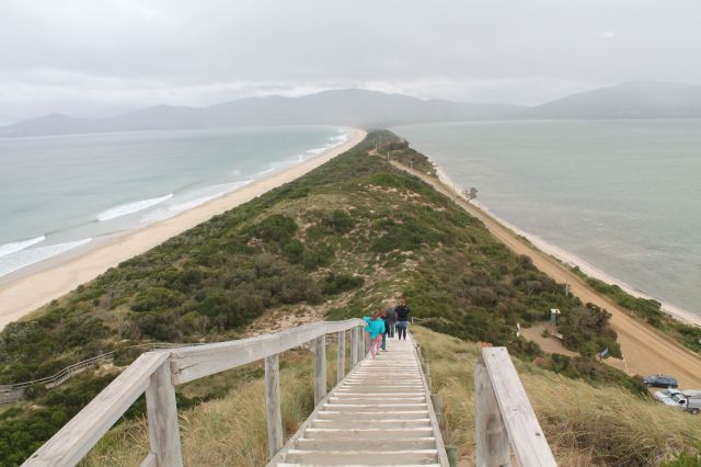 The Neck - the middle of Bruny Island