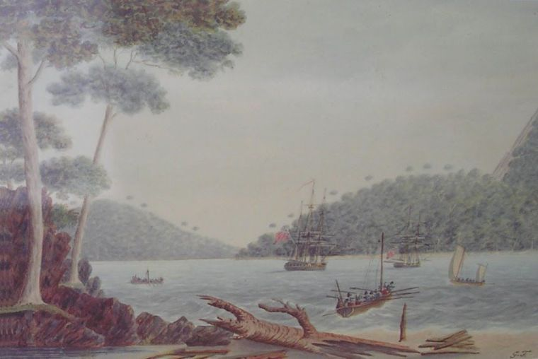 Two Tree Bay painting by Tobin