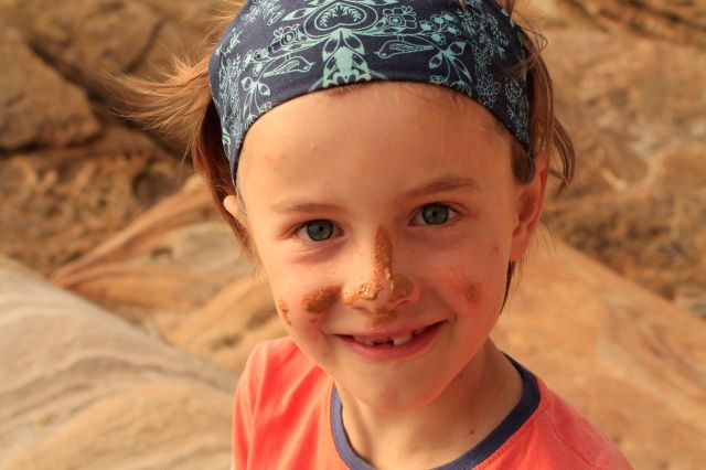 Sandstone face paint!